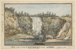 View of the Fall of Montmorenci below Quebec